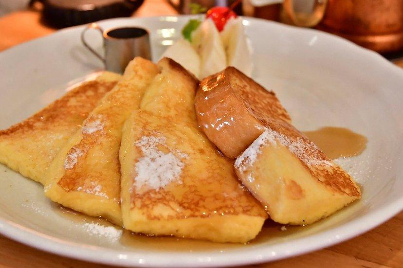 リピ〜浅草レトロ喫茶にて、ふわとろフレンチトーストを頬張る朝  #tabelog