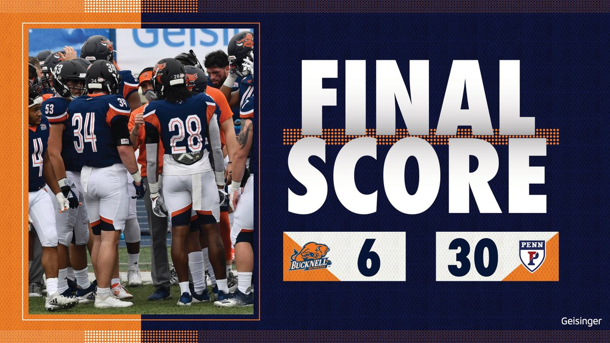 Final. Following their bye week, the Bison host Cornell for their Homecoming Game on Saturday, Oct. 2 at 3:30 p.m.