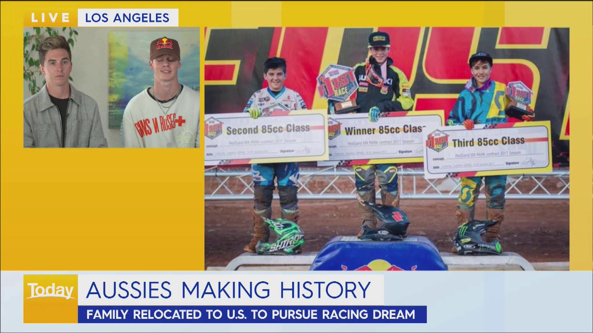 18-year-old Jett Lawrence from QLD has made history in the US this week by becoming the first Australian to win the AMA Pro Motocross 250 Championship.  And if that wasn't impressive enough, his big brother Hunter finished third. #9Today