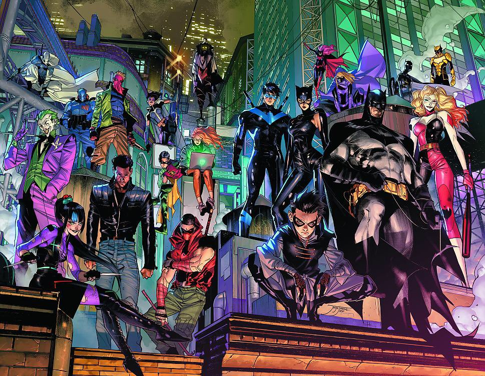 Happy #BatmanDay to DC Comics' own Bat Group, working hard to publish Gotham stories month after month that make us all feel a little less lonely in the world…by creating comics that invite us all to be part of the (Bat) family. @Ben_Abernathy @Paul_Kaminski @thatamedeo 🖤🦇🖤