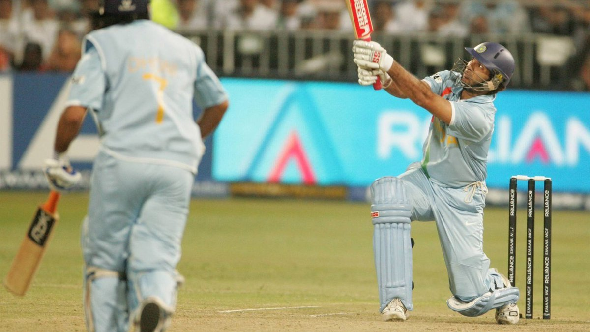 Look out in the crowd!  On this day in 2007, @YUVSTRONG12 made #T20WorldCup history, belting six sixes in an over 💥 https://t.co/Bgo9FxFBq6
