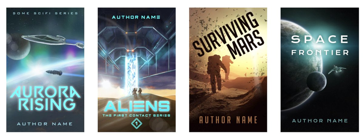Science Fiction premade #bookcovers. Photo manipulated and hand drawn originals pattyjansen.com/covers/product…