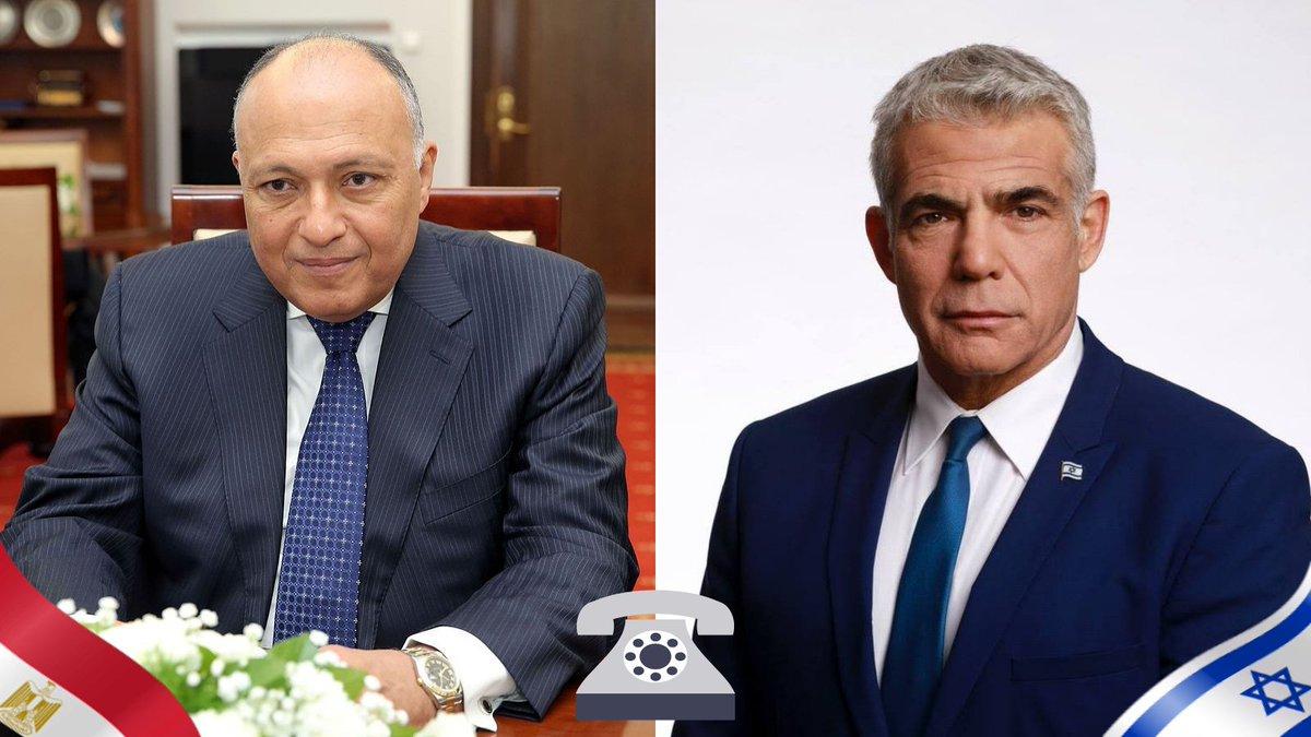 أجرى وزير الخارجية الاسرائيلي لبيد مكالمة هاتفية الليلة الماضية مع وزير الخارجية