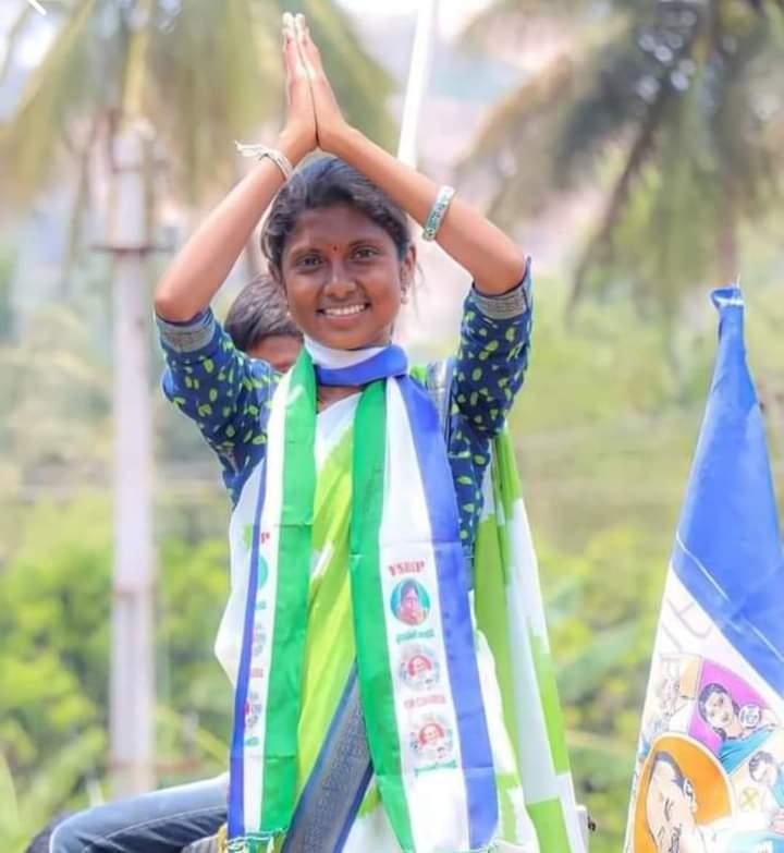 """թɾαѵҽҽղ ° 🌟's tweet - """"Hearty Congratulations KUPPAM MPP Hasini Ashwini HM Ashwini Hasini Ysrcp Kuppam sister.... finally it's a great victory Feeling proud of u sister....🧡💐💕💕🇸🇱🇸🇱🇸🇱🇸🇱🇸🇱 #YSRCPMarkVictory """" - Trendsmap"""