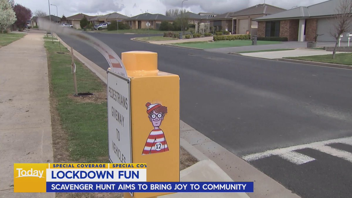 'Where's Wally' characters are popping up all over Orange!  The regional city has found a novel way to make the daily lockdown walk more fun for the family. #9Today