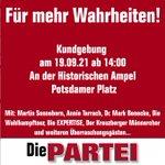 Image for the Tweet beginning: Langeweile, Ihr Berliner? Komm zum