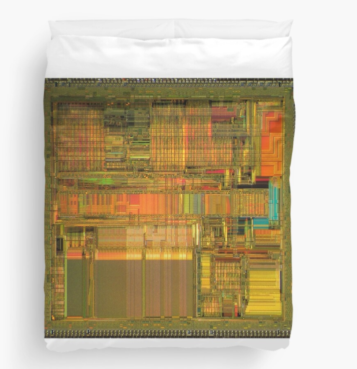 I just bought a Intel 80486 die bed cover. What is wrong with me? redbubble.com/i/duvet-cover/…