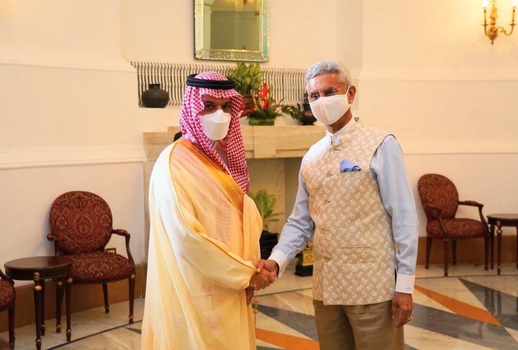विदेश मंत्री डॉ. एस. जयशंकर ने सऊदी अरब के विदेश मंत्री से आज नई दिल्ली के हैदराबाद हाउस में मुलाकात की