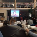 Bellerby girls doing what they love doing on a Saturday evening… watching a movie together 🎥 🍿 #wearefamily #Iloveboarding #Mulan