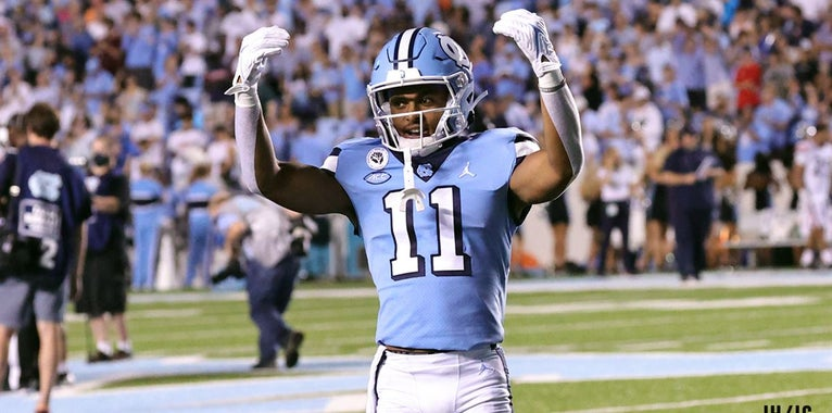 """InsideCarolina on Twitter: """"A Tar Heel wide receiver has caught 200+ yards  of passes in each of #UNC's last three games against Virginia. Add Josh  Downs to the list: https://t.co/hDsvmbIr3L… https://t.co/ucHjcxAM32"""""""