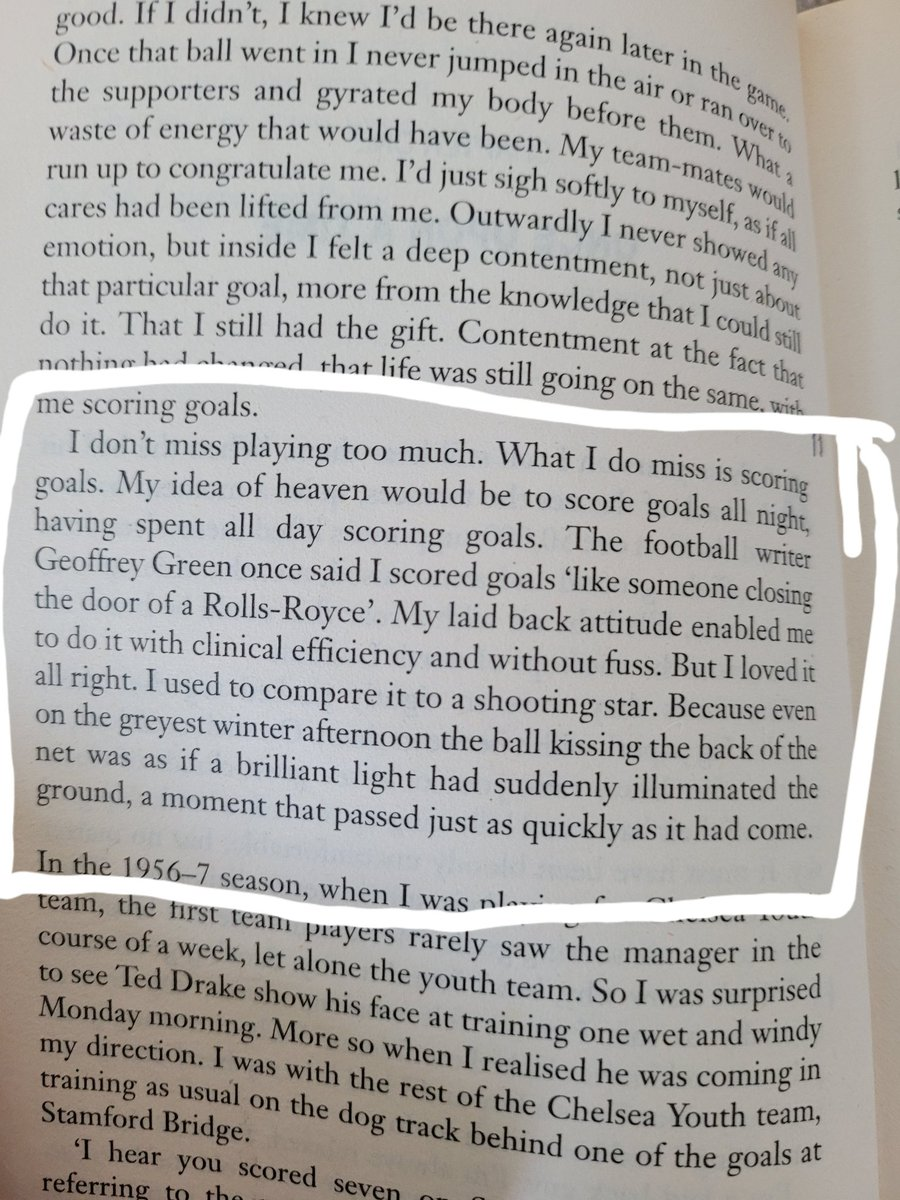 A great line from Greavsie's autobiography about scoring goals. I think anyone who has played football at any sort of level can relate to this. Is there a better feeling in the world than scoring a goal? If there is I'm yet to find it!