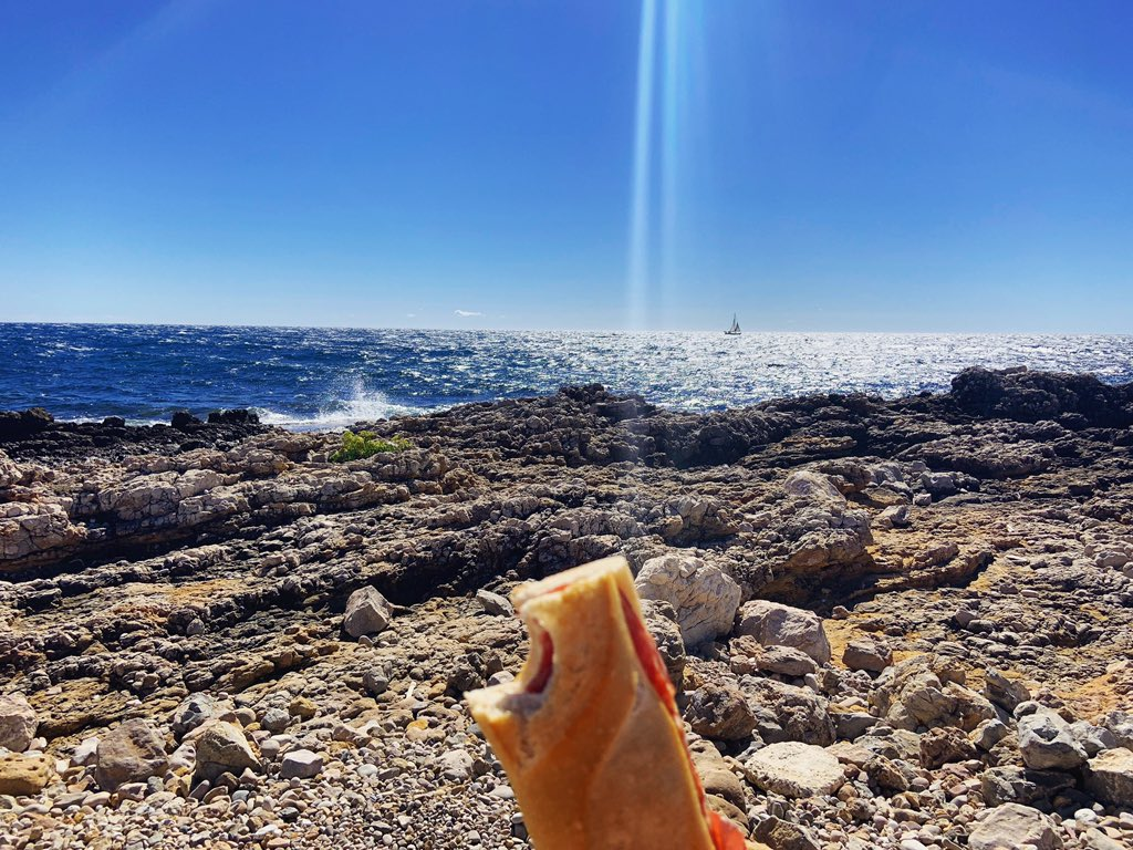 'What else do you need other than sunshine, sea and a sandwich with salame and cheese?' - @BCboooks sums up the Italian approach to life.