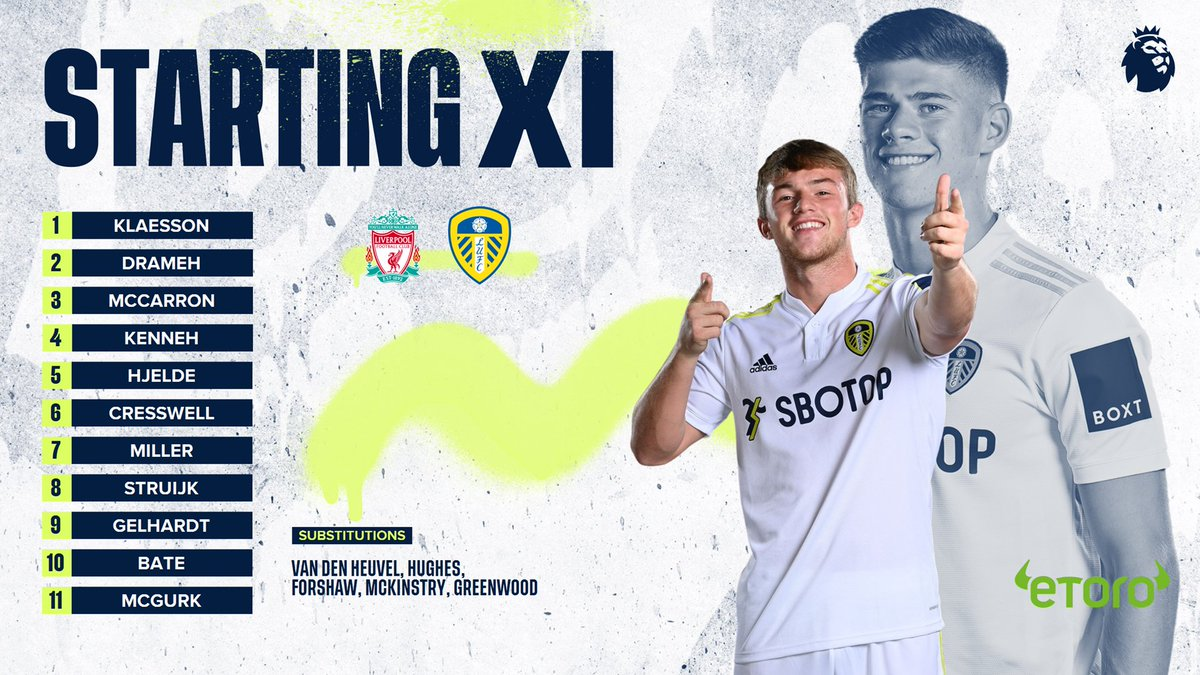 ? Three changes to the U23s Starting XI. McCarron, McGurk, Struijk in for Dean,…