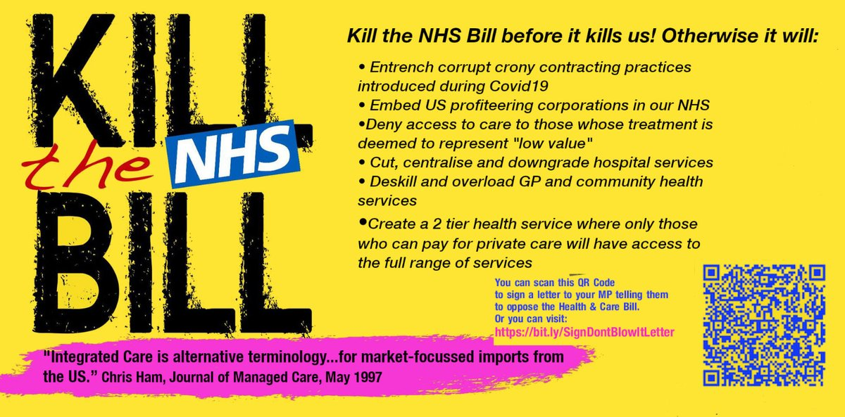 Why and How to Kill the Health and Care Bill #ScrapNHSBill #DontBlowIt bit.ly/TakePartDontBl…