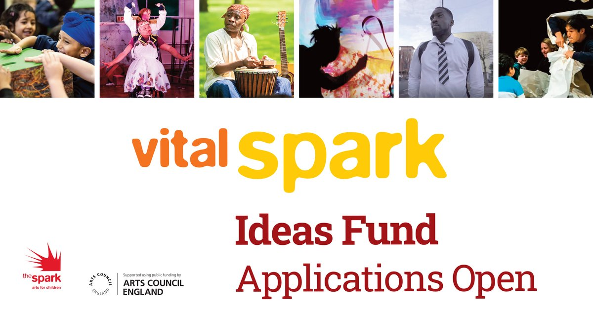 RT @OutdoorArtsPRO: Got that spark? Apply for @thesparkarts Ideas Fund,  a unique opportunity for artists to receive financial support and expertise towards the development of a bold new piece of work created for children and young people aged 0-13years. Apply by 11 Oct >> https://t.co/SzyjBzpyCK