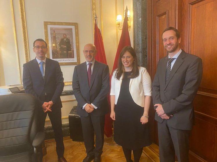 سفيرة إسرائيل في بريطانيا تسيبي حوتوبيللي تلتقي سفير المغرب في بريطانيا عبد