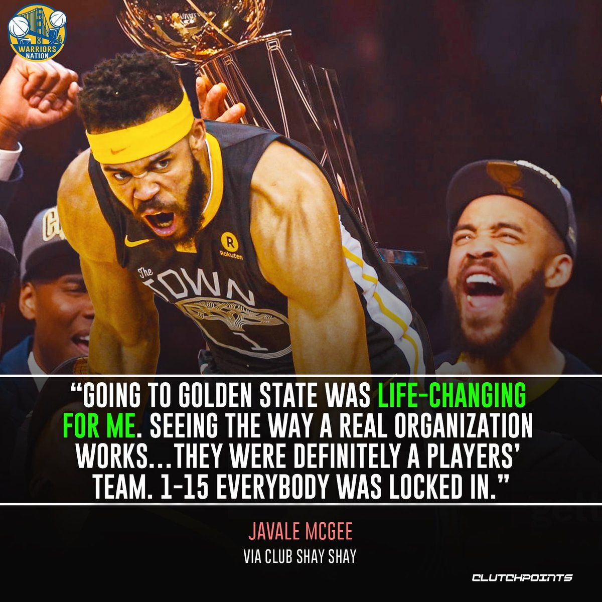 Javale McGee's 2 championship rings with our squad can attest to that 🙌