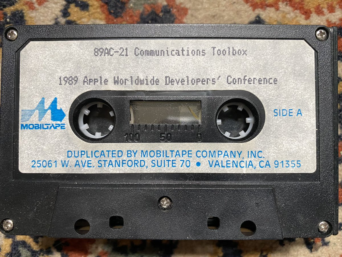 In ancient times, before conference talks got posted to YouTube, there were conference cassettes. We've come a long way in the last 0x20 years.