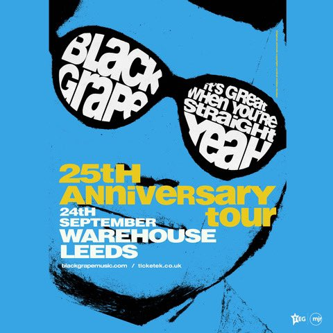 THIS WEEK… Black Grape play @Warehouse_Leeds with guests @humanist_uk on Friday 24th September 2021!! 😎 Tickets: theleedswarehouse.com/event/black-gr… #BlackGrape #ShaunRyder #KermitLeveridge #Humanist #Warehouse #Leeds #Gigs #Tour #Livemusic