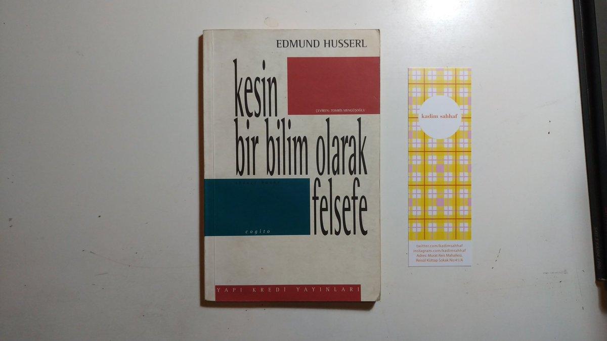▫Edmund Husserl - Kesin Bir Bilim Olarak Felsefe  YKY, 1995 80 sf Yeni gibi Fiyat: 15 TL