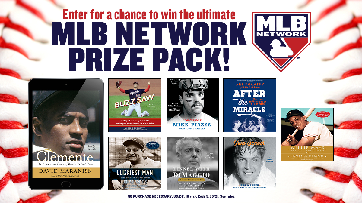 Enter for a chance to win an iPad, a swag bag with a #HaroldReynolds signed baseball, an audiobook library including #WillieMays by @jshirsch and #AfterTheMiracle by @ArtShamsky & @byErikSherman, plus more as a part of our @MLBNetwork sweepstakes! bit.ly/3yEYHLa