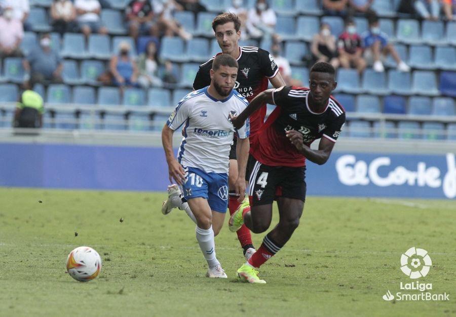 El Mirandés tumba al CD Tenerife en el último minuto (1-2)