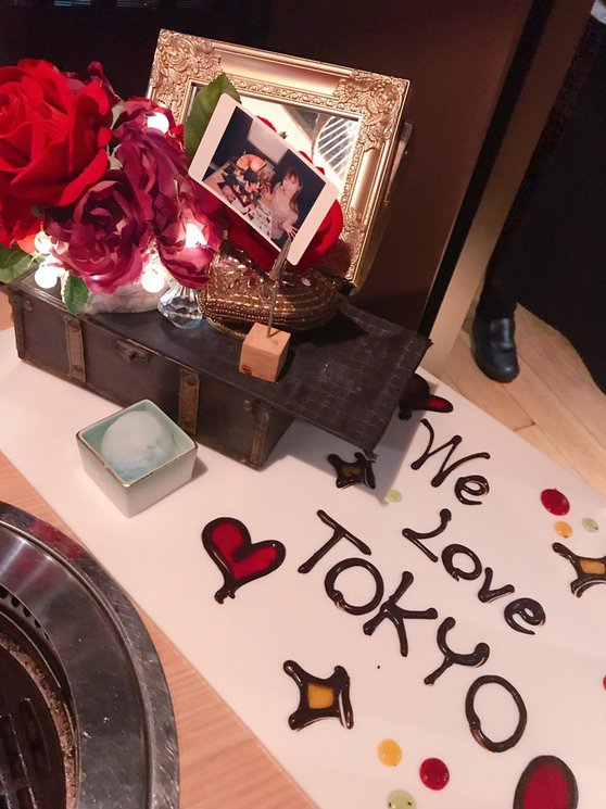 渋谷の富士門で個室焼き肉ぅ。肉タワーがめっちゃ可愛くて映えるー!お肉美味しすぎかっっ幸せー!記念日サプライズにもぴったり...  #tabelog
