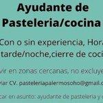 Image for the Tweet beginning: 👉 Ayudante de pastelería y