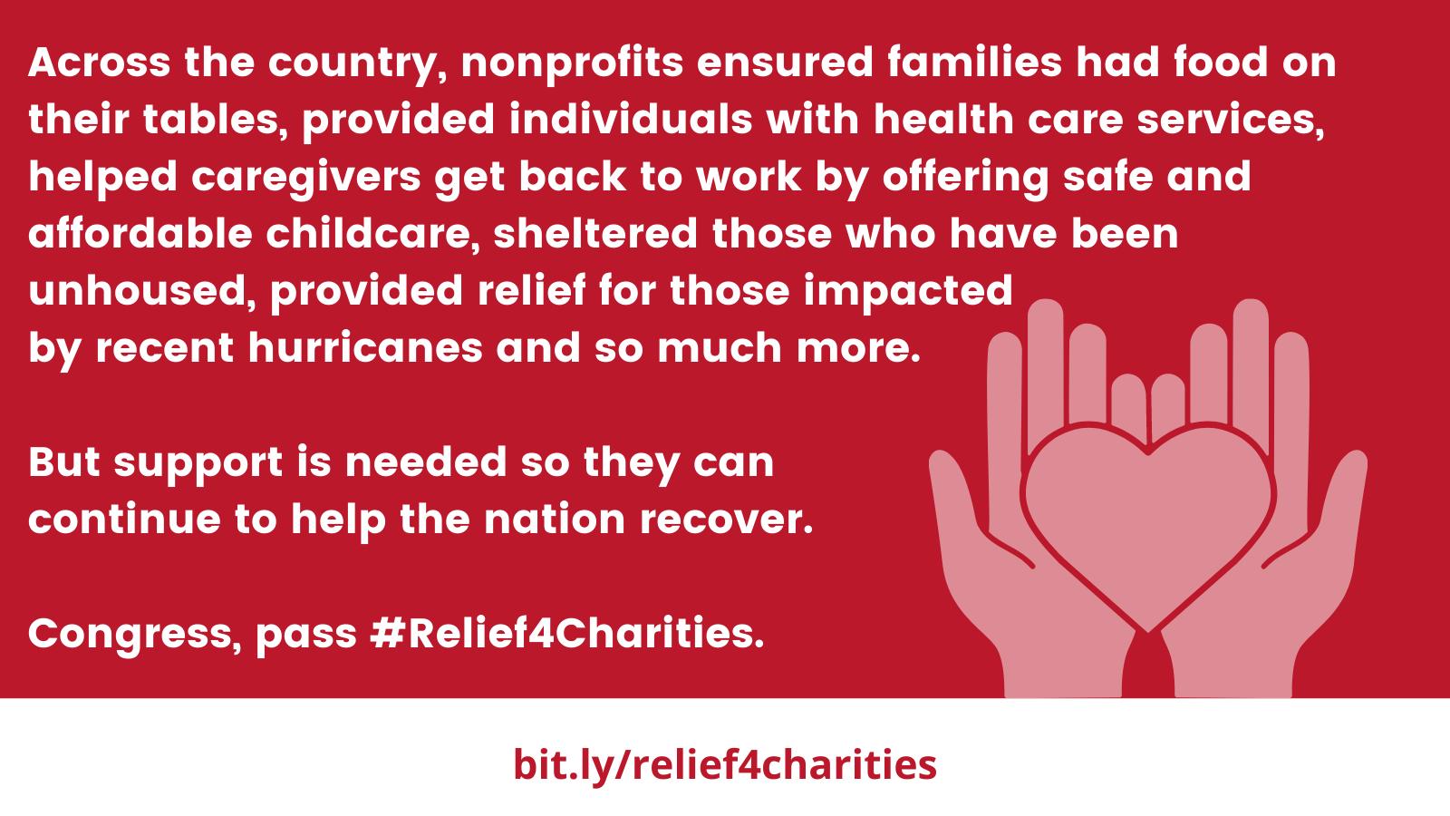 #Relief4Charities Twitter image