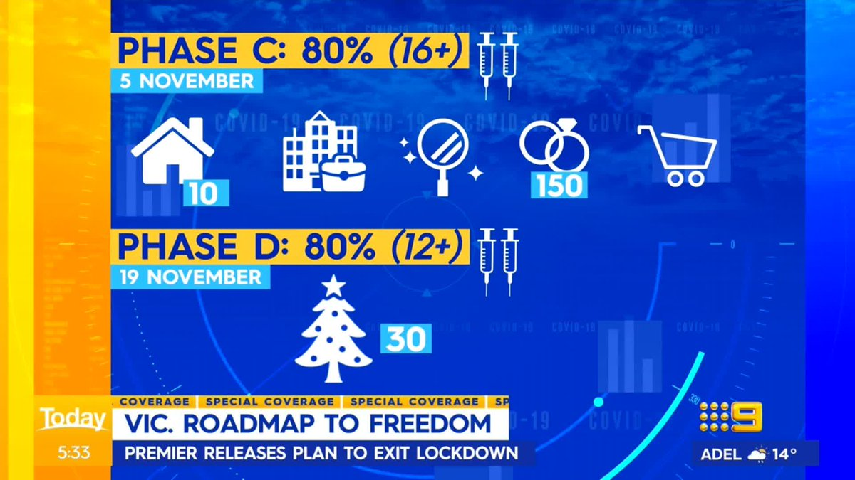 Victoria's roadmap out of what will be the world's longest lockdown has finally been revealed. #9Today