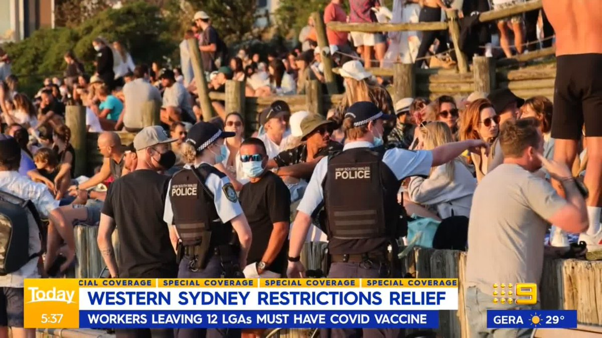 Residents in Sydney's 12 COVID hotspots are waking up to eased restrictions, bringing Western Sydney in line with the rest of the city. #9Today