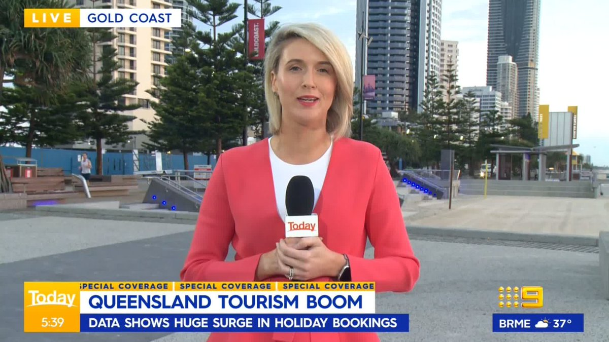 Queensland's tourism industry is booming over school holidays despite the border closure. #9Today