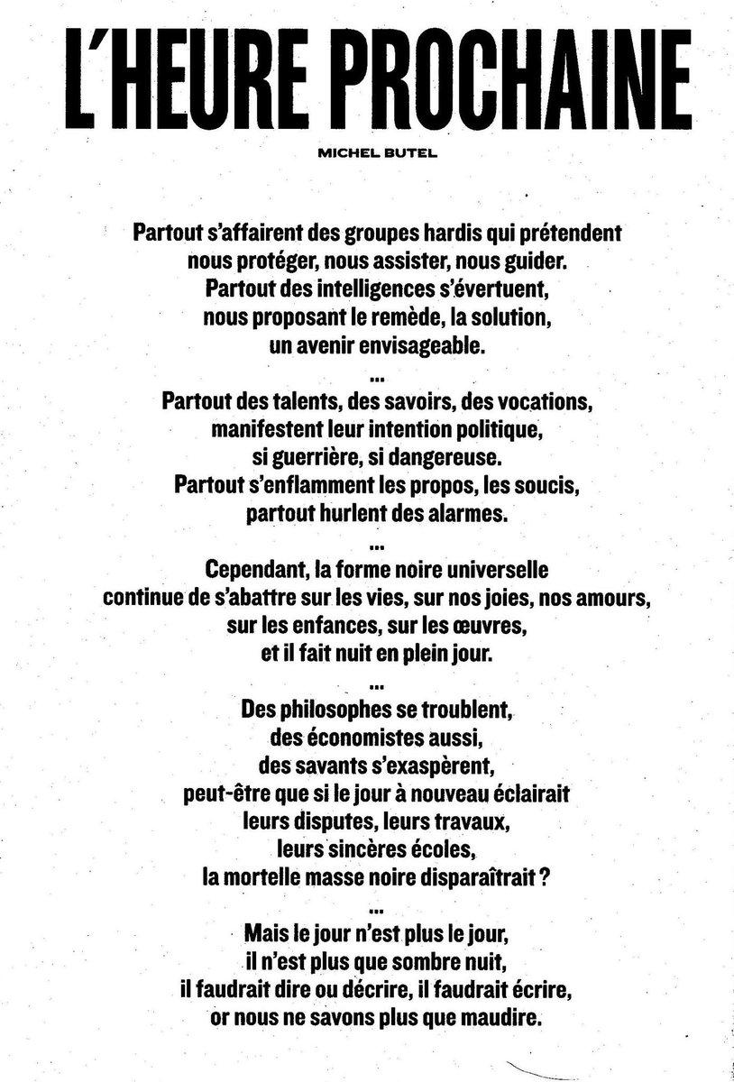 Les oracles de Michel Butel | L'Heure Présente | l'Heure Prochaine | L'Heure Lointaine | Dans L'Impossible N°3 | Mai 2012