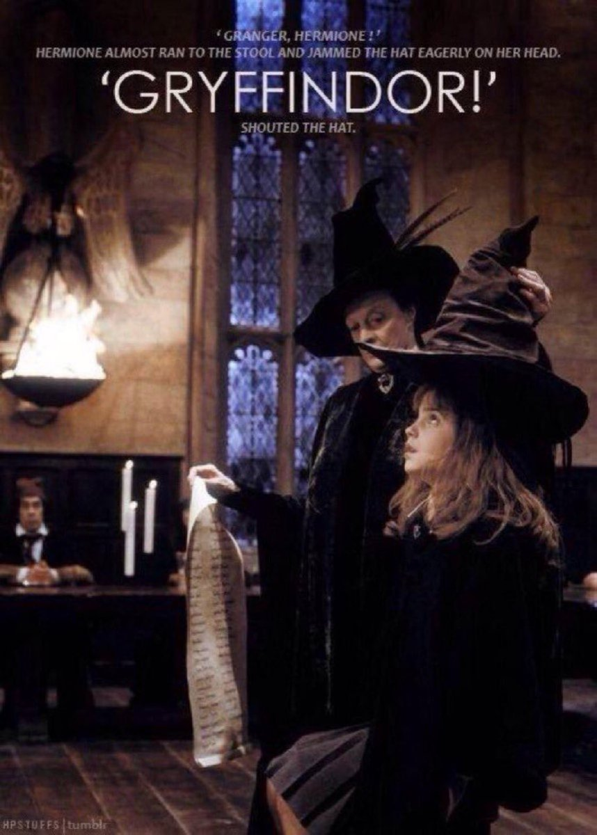 Hermione is Muggle-born, started attending Hogwarts in 1991, and was sorted into Gryffindor!  #HappyBirthdayHermioneGranger