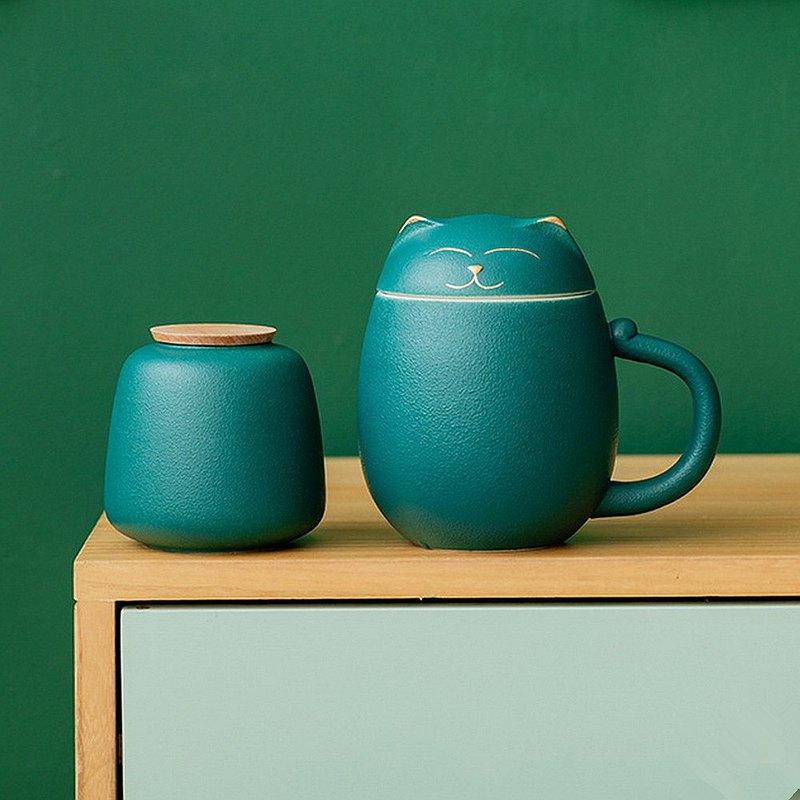 招き猫がモチーフ!しっぽや足跡がデザインされた『猫の茶器セット』が可愛い!