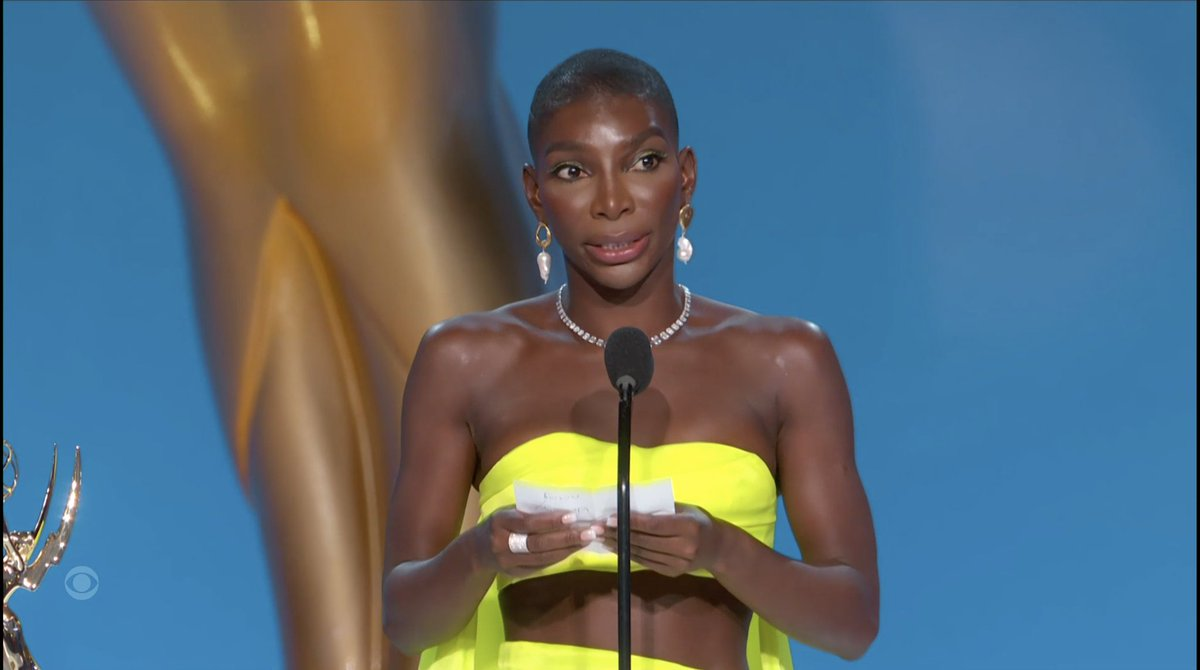 In 2017, Michaela Coel turned down Netflix's $1 million offer for 'I May Destroy You' because they wouldn't allow her to retain any percentage of the copyright. Tonight, she won an Emmy for Best Writing (Limited Series): bit.ly/3AstfS5