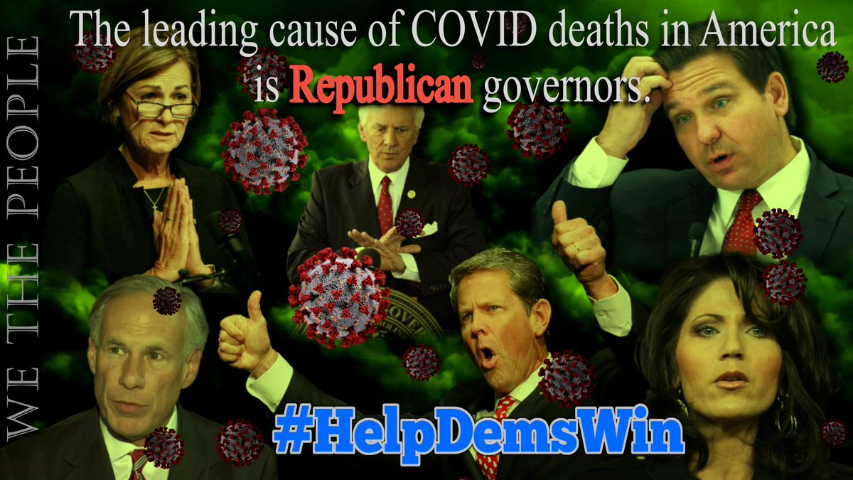 There are 36 gubernatorial elections next year  Republican governors such as FL's #DeathSantis & TX's Abbott catastrophically failed their states during this pandemic  #HelpDemsWin & REPLACE THEM!  #wtpBLUE @wtpBLUE #wtp1008 https://t.co/csDXlChHzH