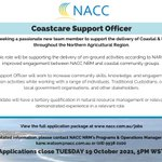 Calling all coastcare stars! ⭐️🌊  NACC NRM is on the hunt for a keen new member to join our Coastal & Marine team!   For more information or to view the JDF for this position, visit 👉 https://t.co/R5rB3A7dnZ 👈  Applications close Tuesday 19 October! #CoastCareRole