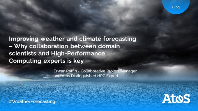 #Weatherforecasting poses real computational challenges, with complex numerical simulations...