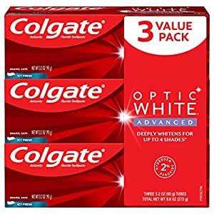 Colgate Optic White Advanced Teeth Whitening Toothpaste $9.48  at