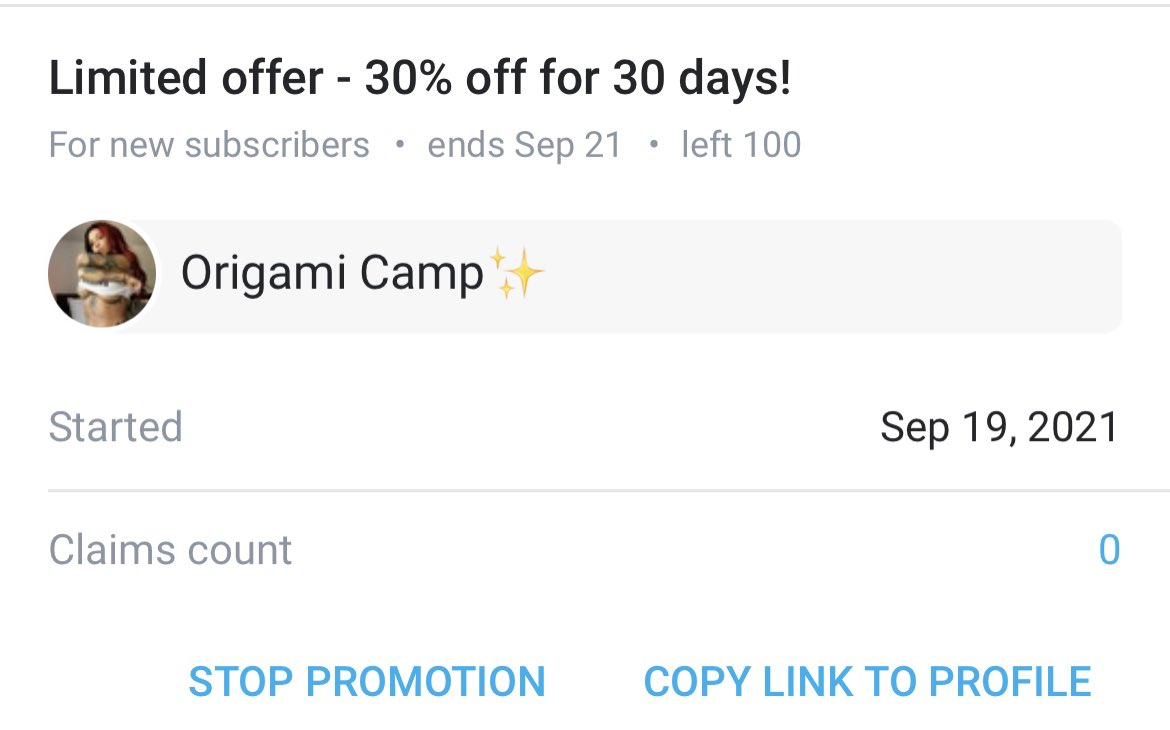 Onlyfans.com/lydiagrace discount is live! Sub before all the #origamicamp content gets released. First vid goes out in 2 hours 😌