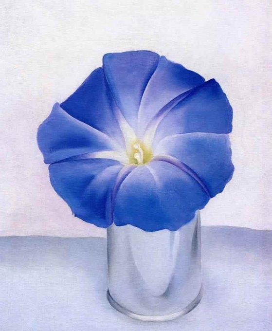 Blue Morning Glory, 1938 by Georgia O'Keeffe #WomensArt