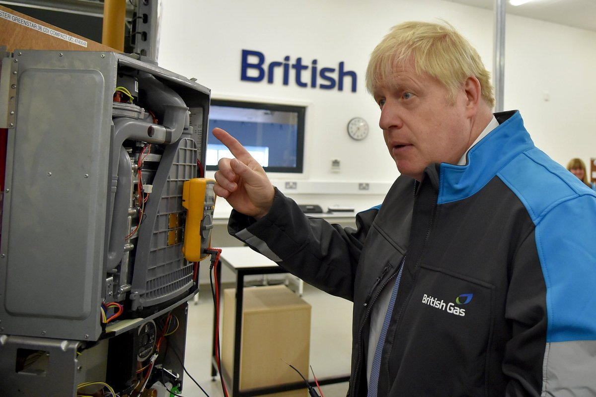 So, he visits British Gas and a week later we're running out of the stuff. Coincidence? I don't think so.
