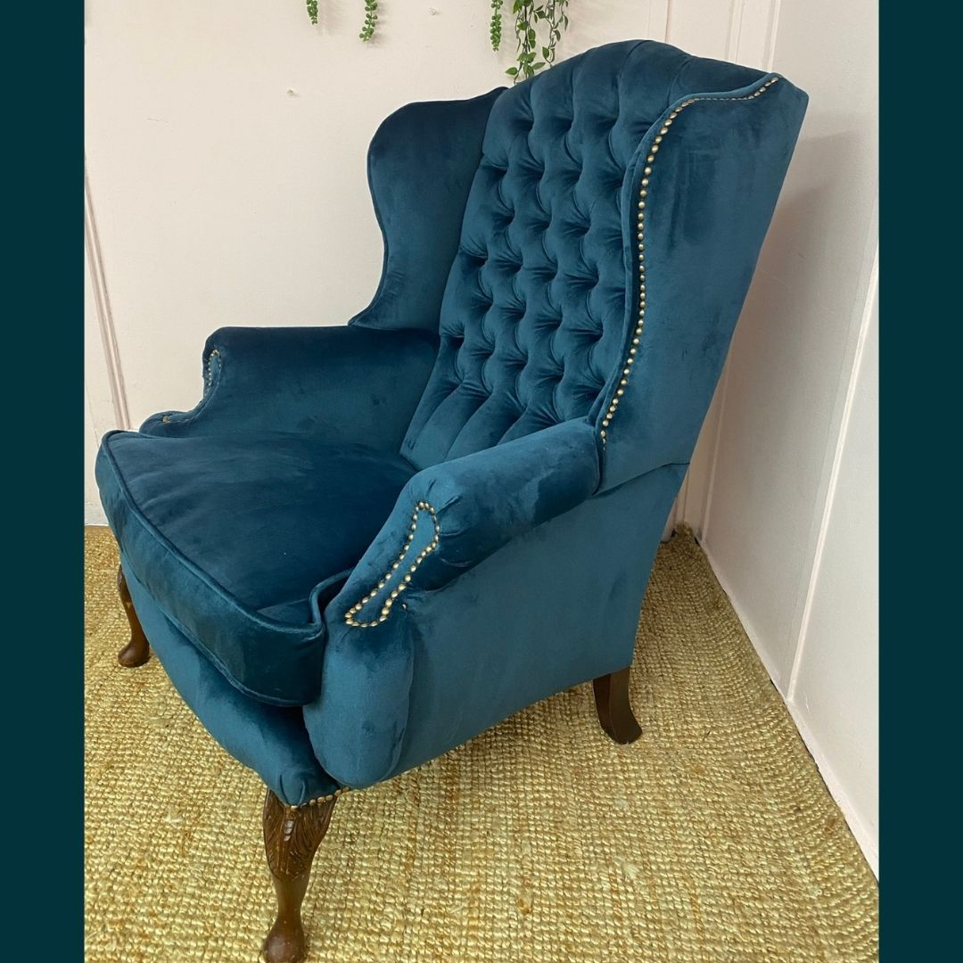 I recently worked on a project for Absolute Radio Drivetime host Richie Firth and his wife, Natalie. An imposing wide wing, Chesterfield style chair, it was one seriously heavy beast to shift around but superbly comfy and well worth saving.