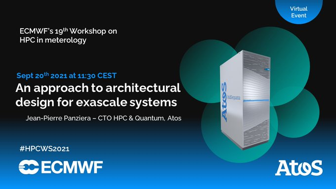 We are at @ECMWF's Workshop on #HPC in #meteorology this week. Follow #HPCWS2021 and...