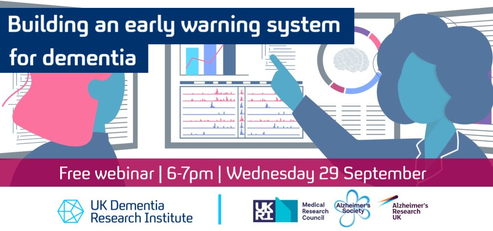 This free public webinar about early signs of #dementia and neurodegeneration looks very worthwhile #WorldAlzMonth #KnowDementia