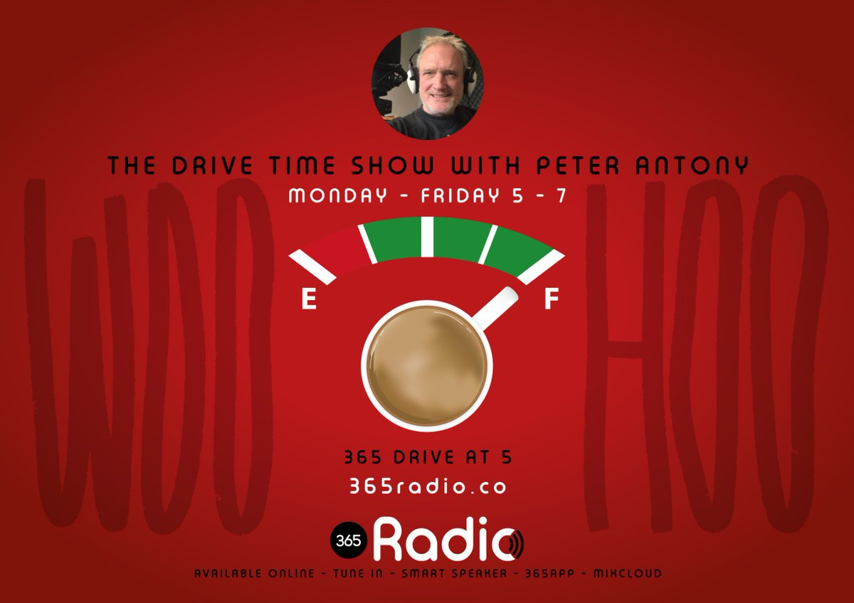 Is there a more satisfying 365Radio.co Drive at 5 show than Mondays? Let Peter Antony speed you away from that dreaded Monday feeling & whisk you away into an evening of freedom & do so at full speed  Catch up on #365Mixcloud  mixcloud.com/365radio/playl… #Rock #drivetime