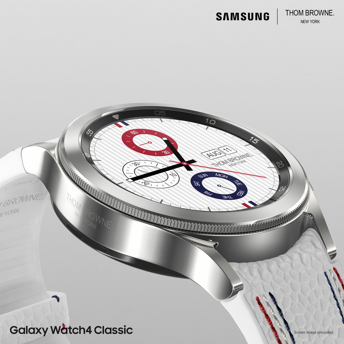The perfect combination of timeless style and digital versatility. A new collection created with rhodium plating, #GalaxyWatch4Classic #ThomBrowne Edition.  Available in select markets from September 29th. Learn more: https://t.co/IvNZc24Ya9  #SamsungThomBrowne https://t.co/vOC87wWuT0