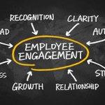 Image for the Tweet beginning: Engaged employees work harder &