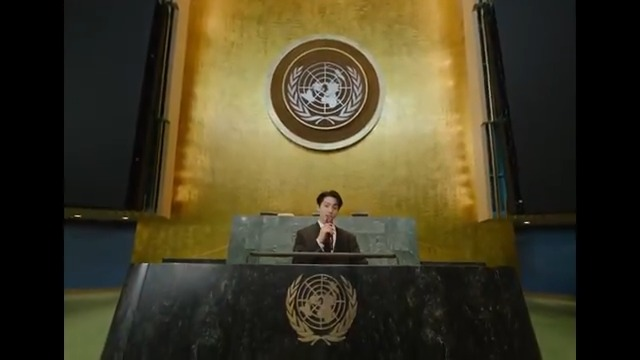 BTG celebrates BTS performing at the United Nations. First– a great speech and then a reminder of the power of MUSIC!